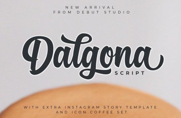 Dalgona Script Font