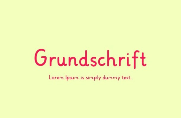 Grundschrift Font Family