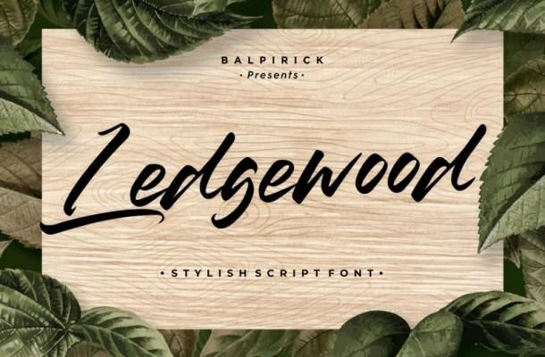 Ledgewood Script Font