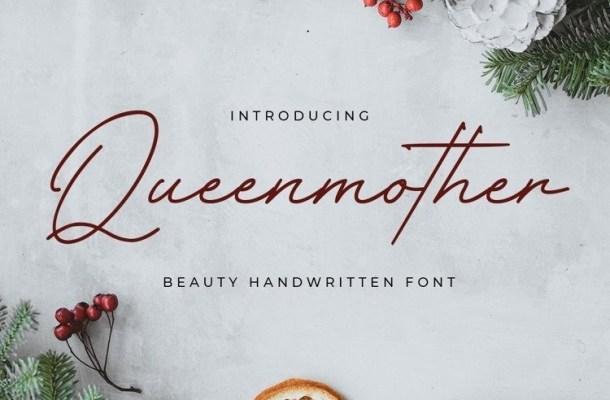 Queenmother Handwritten Font