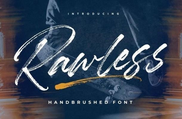Rawless Brush Font