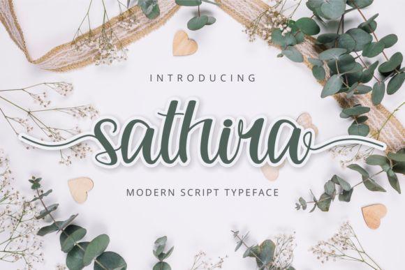 Sathira Calligraphy Script Font