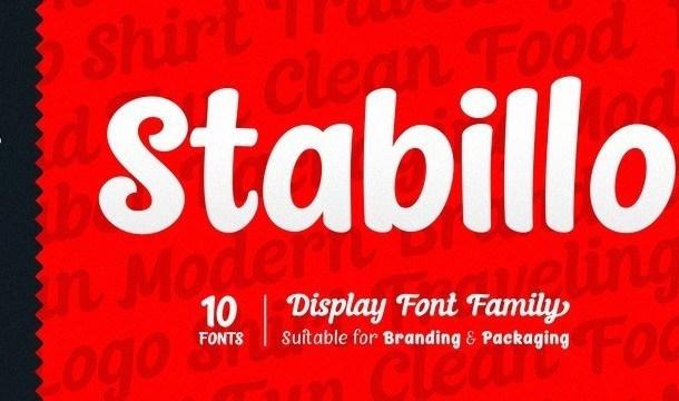 Stabillo Display Font