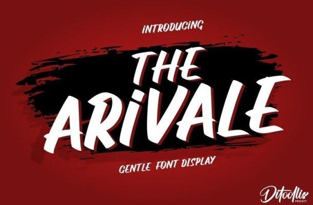 The Arivale Bold Script Font