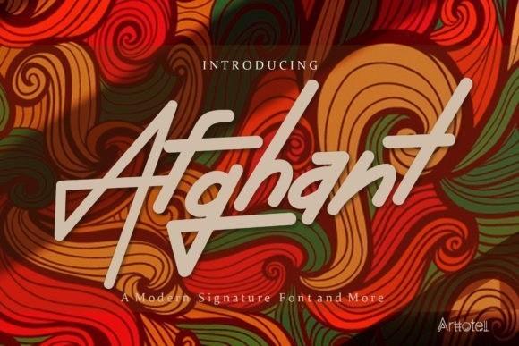 Afghant Bold Signature Font
