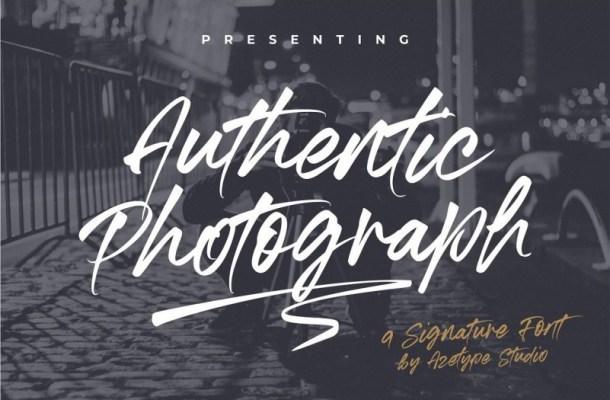 Authentic Photograph Signature Font