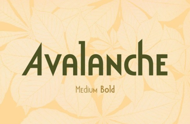 Avalanche Display Sans Font
