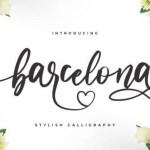Barcelona Modern Calligraphy Font