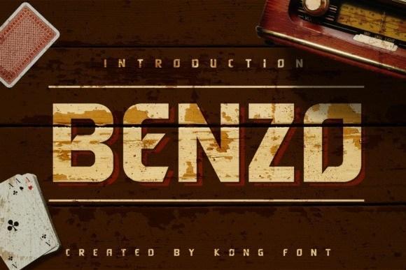 Benzo Display Vintage Font