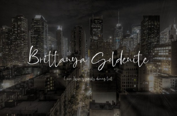 Brittanya Goldenite Handwritten Font