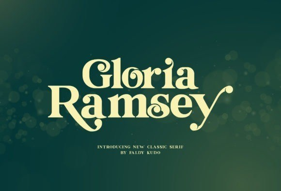 Gloria Ramsey Serif Font