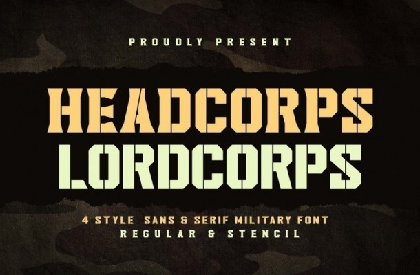 Headcorps & Lordcorps Display Font
