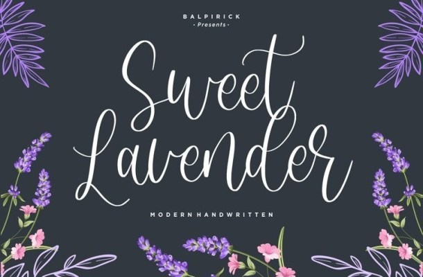 Sweet Lavender Handwritten Font