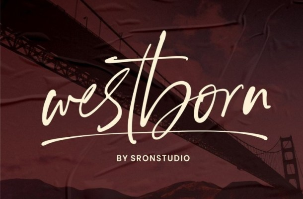 Westborn Signature Style Font