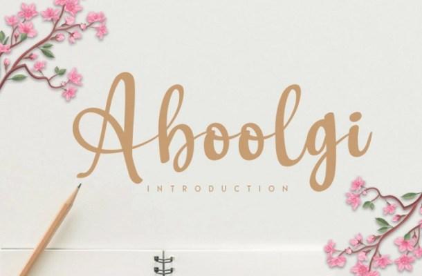 Aboolgi Handwritten Script Font