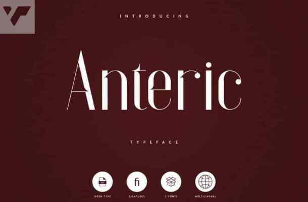 Anteric Display Typeface