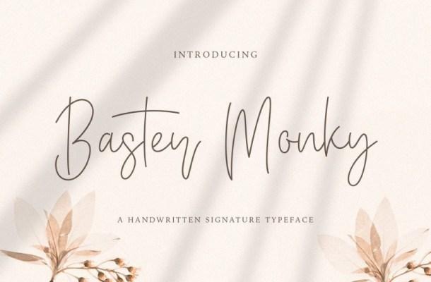 Baster Monky Handwritten Font