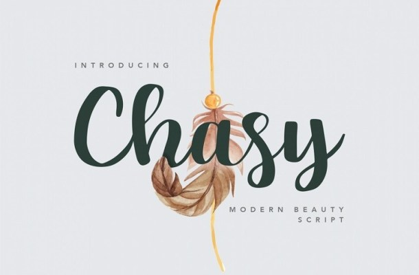 Chasy Beauty Calligraphy Font