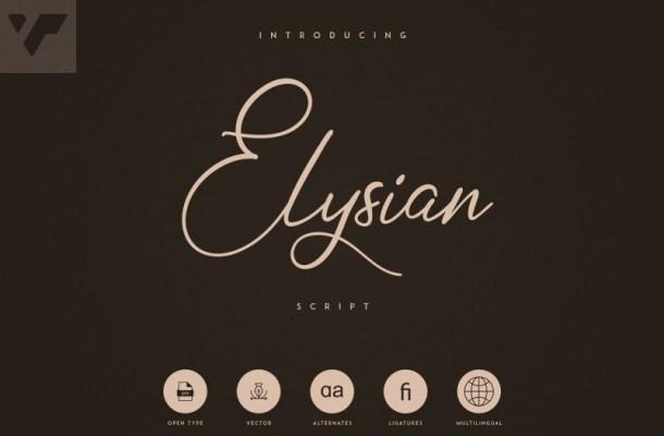 Elysian Handwritten Script Font