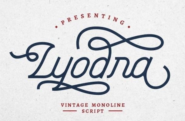 Lyodra Vintage Monoline Script Font