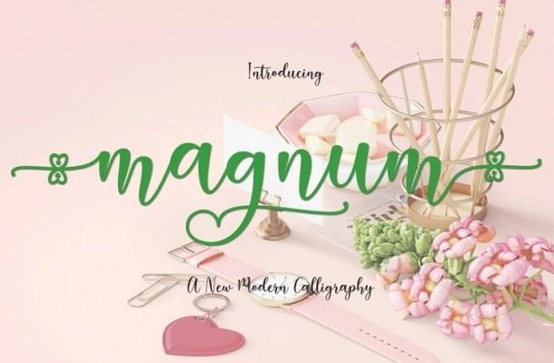 Magnum Modern Calligraphy Font