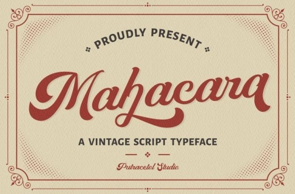 Mahacara Vintage Script Font