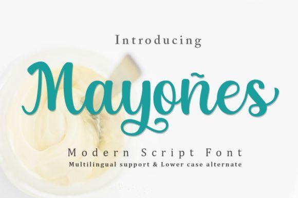 Mayones Modern Script Font