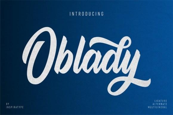 Oblady Bold Script Font