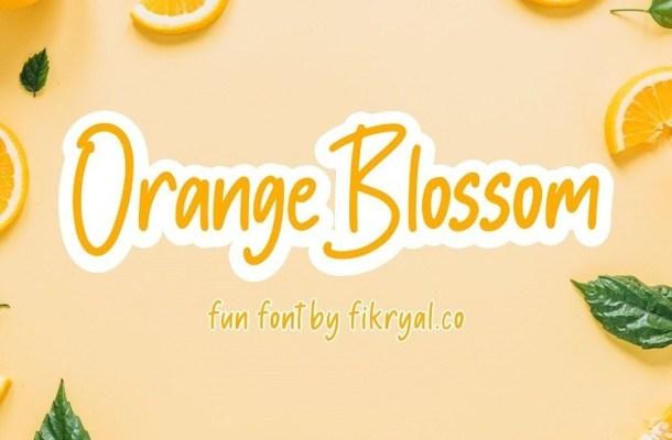 Orange Blossom Handwritten Font