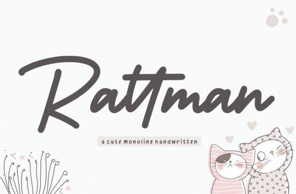 Rattman Bold Handwritten Font