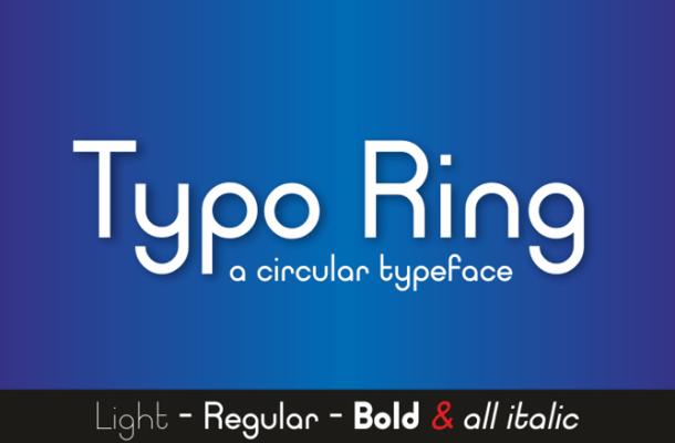 Typo Ring Sans Serif Font