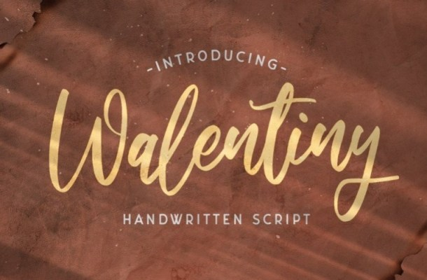 Walentiny Handwritten Script Font