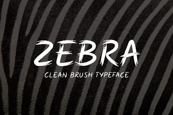 Zebra Brush Font