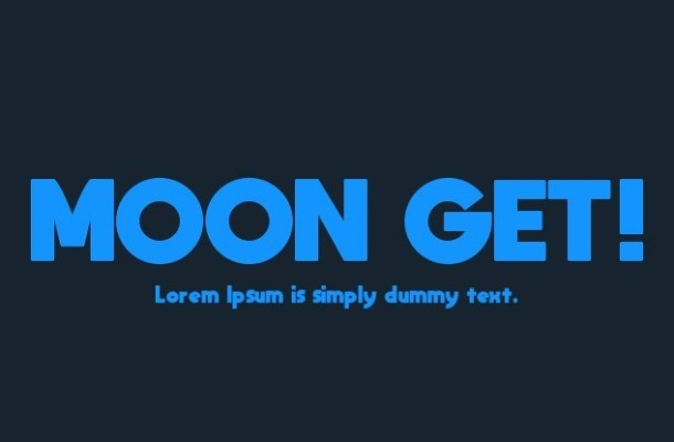 Moon Get! Sans Serif Font