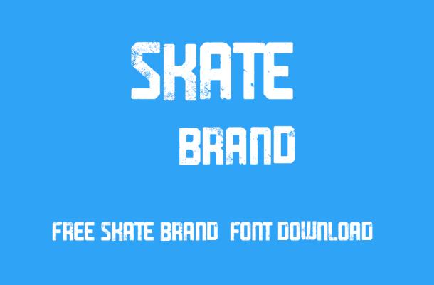 Skate Brand Font