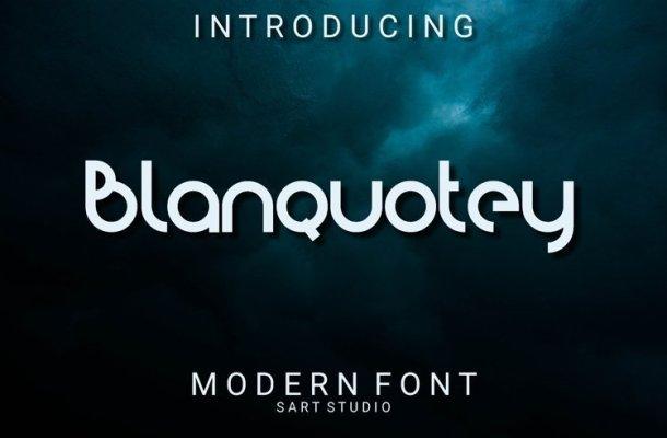 Blanquotey Modern Display Font