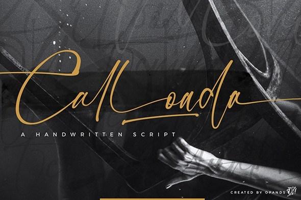 Calloada Handwritten Script Font