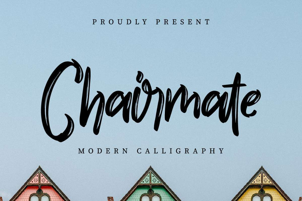 Chairmate-Brush-Calligraphy-Font-1