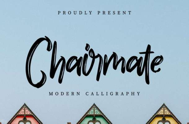Chairmate Brush Calligraphy Font