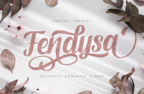 Fendysa Bold Calligraphy Font