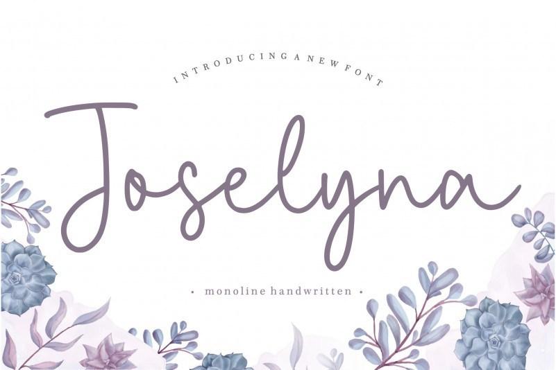 Joselyna-Monoline-Handwritten-Font-1