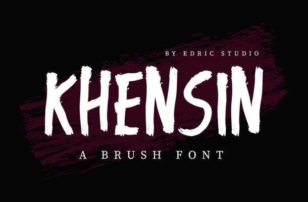 Khensin-Brush-Script-Font-1