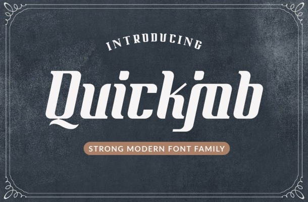 Quickjob Display Font