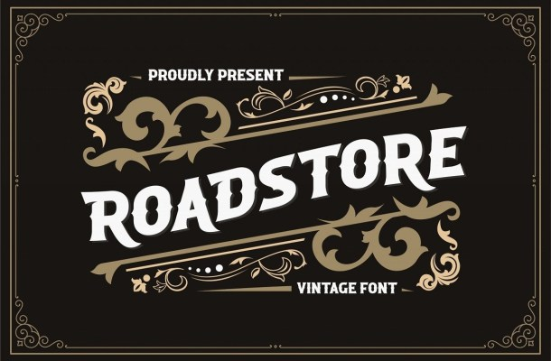 Roadstore Vintage Display Font