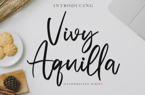 Vivy Aquilla Handwritten Font