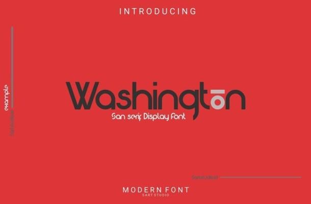 Washington Sans Display Font