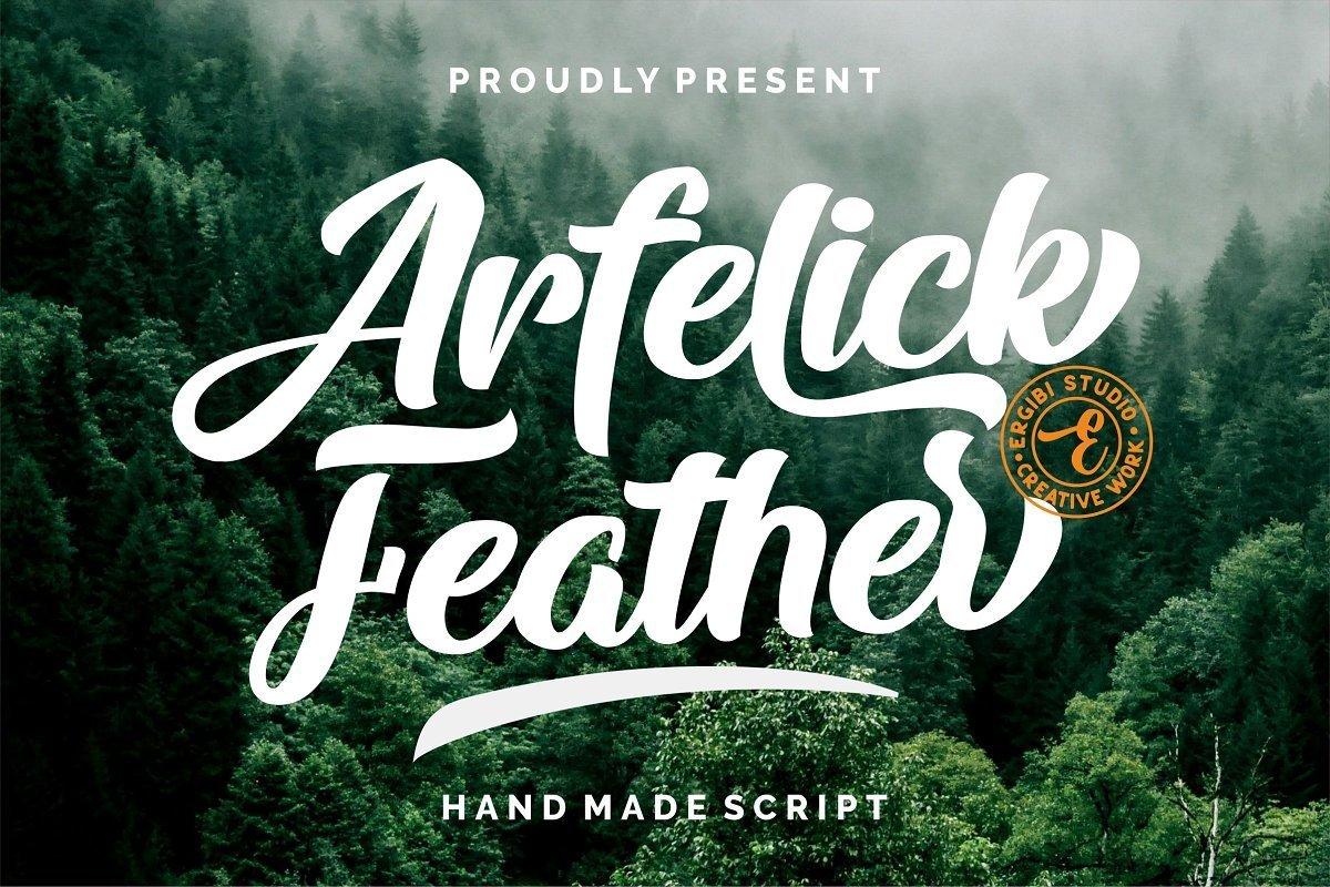 Arfelick-Feather-Handmade-Script-Font-1