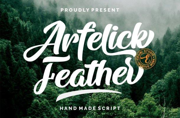 Arfelick Feather Handmade Bold Script Font