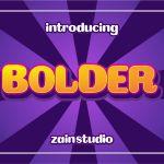 Bolder Bold Display Font