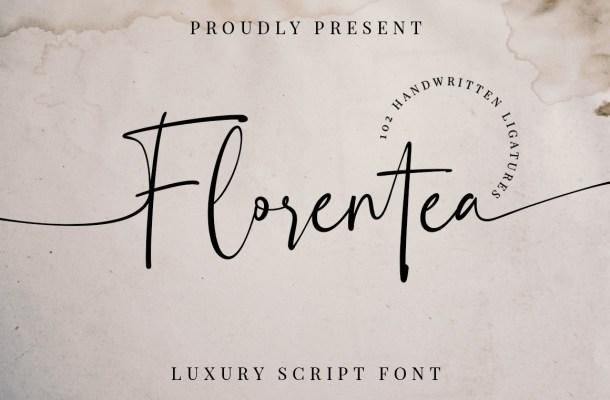 Florentea Luxury Calligraphy Script Font
